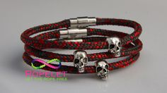 Add some Skull Ropelets to your wrist, just one of the Ropelets in our handmade rope bracelet collection at www.ropelet.co.uk #skull #thomassabo #skullbracelet #ropelet #ropebracelet