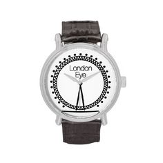 London Eye illuminated wheel silhouette Watches