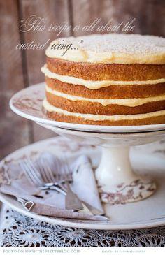 rustic custard cake perfect for a farm wedding
