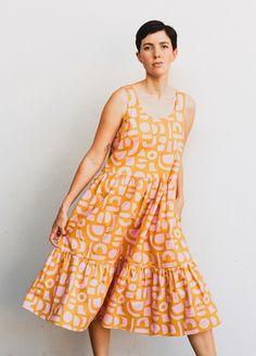 BARDON DRESS - peppermint magazine Summer Dress Patterns, Dress Sewing Patterns, Sewing Patterns Free, Clothing Patterns, Free Pattern, Sewing Summer Dresses, Fashion Patterns, Pattern Ideas, Robe Diy