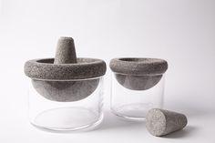 Molcajete [volcanic stone mortar] by Sebastián Ocampo / Mar Alejandra Verre Design, Beton Design, Concrete Design, Mortar And Pestle, Vintage Design, Material Design, Minimal Design, Food Design, Industrial Design