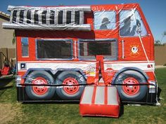 Firetruck bounce house! Awesome!