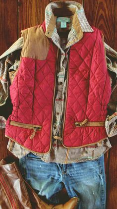 Apple Picker's Suede Patch Quilted Vest