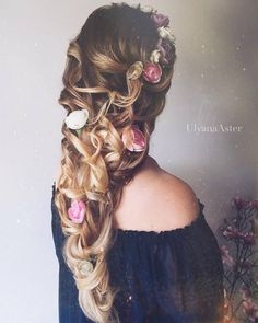 Wedding Updo Hairstyles for Long Hair from Ulyana Aster_04 ❤ See more: http://www.deerpearlflowers.com/wedding-updo-hairstyles-for-long-hair-from-ulyana-aster/
