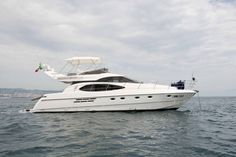 Motor Yacht Lady Fortitude Built Azimut, 2002, Italy Length 16m Guests 6 Cabins 3 (1 Master, 2 Twin) Crew 2 Based in Baia, Naples, Italy