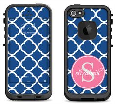 a2c806f0072 Items similar to Blue Moroccan Pink Monogram - Lifeproof iPhone 6 Fre Nuud,  LifeProof iPhone 5 5S 5C Fre Nuud, Lifeproof iPhone 4 4S Fre Decal Skin  Cover on ...