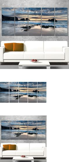 Posters and Prints 41511: Seascape Canvas Wall Art Seashore Beach Ocean 5 Pcs Landscape Print Home Decor -> BUY IT NOW ONLY: $123.72 on eBay!
