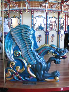 Awesome Dragon on a Merry Go Round, Carousel