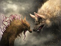 FENRIR and the Barghest by Hallowing.deviantart.com