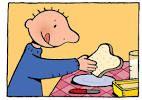 Jules eet een boterham