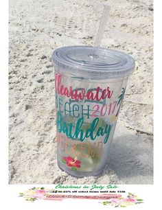 Girls Weekend Tumbler, Acrylic Double Walled Travel Cup, Bachelorette Getaway, Custom Birthday Cups, #etsy #vineandwhimsy #gifts #wedding #bachelorette #tumbler #favors #party #monogram #personalized #decals