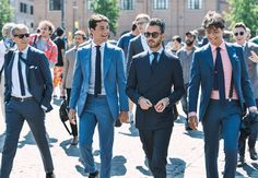 players keep on playing -- power suiting at its finest // menswear street style, Pitti Uomo trade show