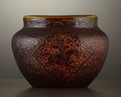 Art Glass:Galle, A FRENCH ART GLASS VASE . Émile Gallé, Nancy, France, circa 1895.Marks: Galle. 4-1/2 x 6-1/2 inch diameter (11.4 x 16....  : More At FOSTERGINGER @ Pinterest