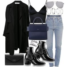 A fashion look from December 2016 featuring T By Alexander Wang tops, A.L.C. coats and Vetements jeans. Browse and shop related looks.