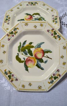 Vintage Nikko Classic Collection Orchard Dinner Plate Set of 3 Peaches David Davir Japan PanchosPorch