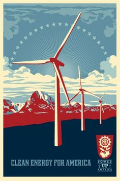 Clean Energy for America's Future. By Lester Beall (1903 -1969, USA). @designerwallace #Energy #Sustainability #Poster
