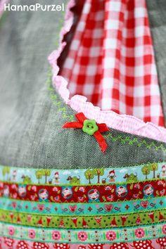 Röcke - Bänderliebe- Sachenfinderrock ❤ 146/152 ❤ - ein Designerstück von HannaPurzel bei DaWanda