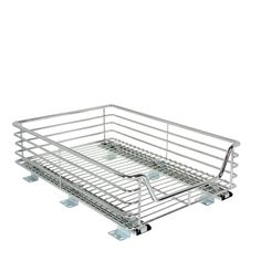 Amazon.com - Household Essentials Extra-Deep Sliding Cabinet Organizer, Chrome, 14-1/2-Inch - Cabinet Pull Out Organizers
