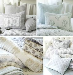 Favorite new block print bedding from Ballard