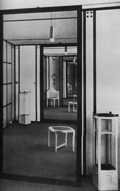 Floge sisters salon in Vienna. Interiors by Koloman Moser.
