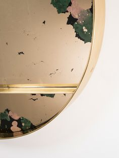 ORBIT | Emerald Magma The Highlight collection by Studio Peascod - verre églomisé furniture. Gold mirror