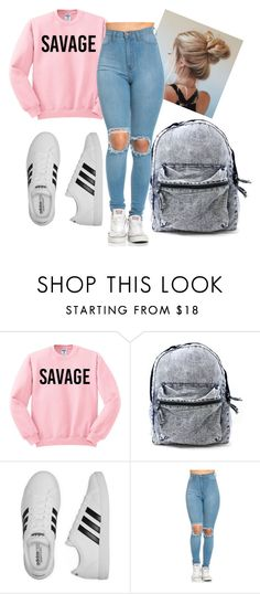 """Outfit of the day"" by iamrosyrosalie on Polyvore featuring adidas"