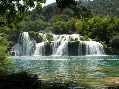 Found in Croatia, this delightful swimming hole is actually a beautiful set of waterfalls that make up Skradinski buk. Formed by the Krka and Čikola Rivers coming together, the turquoise and emerald waters are illuminated with little caves and islands. Nightingales, emerald dragonflies and butterflies fly around the falls, making it appear as though you're right in the middle of a Disney movie. So strap on your speedo (it is Europe, after all) and dive on in!
