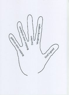 Gebedshand - thema gebed - kinderwerk ♥ ℳ ♥