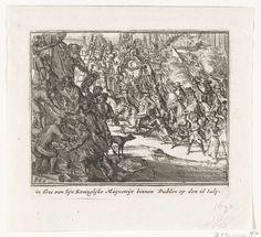 Anonymous   Willem III trekt Dublin in, 1690, Anonymous, Cornelis Danckerts (II), unknown, 1711   Koning Willem III trekt met zijn legers Dublin in, 16 juli 1690. Onderdeel van een serie over de lotgevallen van het Engelse koningshuis van Stuart van 1558-1711, waarvan hier zijn opgenomen zestien prenten over de strijd tussen Jacobus II en Willem III in de jaren 1688-1689.