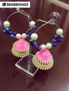 Handmade, Waterproof Paper Jewellery by #ANUKUNJ. At 23, Suvas Colony, near Lakhudi Circle, Navrangpura. To inquire, call: 9638800402 #accessories #jewellery #earings #gift #Ahmedabad