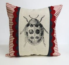 Decorative+throw+pillow+cushion+cover+with+by+ecarlateboutique,+