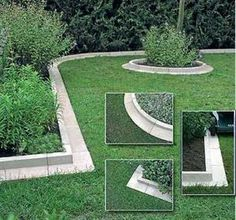 Arcadian Lawn and Paving Edging: this is a wonderful way to make clean landscaping. More elegant than brick, cobblestone, or pounding plastic edging. I've been contemplating how to give my new home a (Diy Garden Edging) Paving Edging, Yard Edging, Concrete Edging, Brick Landscape Edging, Brick Pavers, Brick Garden Edging, Landscape Steps, Driveway Edging, Landscape Designs