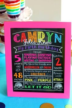 Rainbow sign at a My Little Pony Birthday Party!  See more party ideas at CatchMyParty.com!