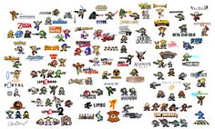 Personnages de jeux vidéos en 8bits personnages jeu video 8bit