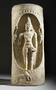 Shiva as the Cosmic Pillar India, Tamil Nadu, early 12th century Sculpture Granulite with traces of paint