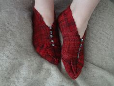 Comfortable woven slippers made with the Schacht Zoom Loom