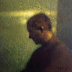 Anne Magill, Interior, Acrylic on panel 20 x 20 cms