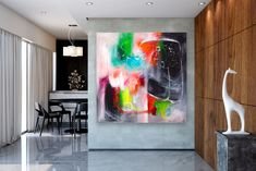 Items similar to Large Modern Wall Art Painting,Large Abstract wall art,texture art painting,abstract originals,bathroom wall art on Etsy Bright Paintings, Unique Paintings, Art Paintings, Large Abstract Wall Art, Large Painting, Painting Abstract, Painting Art, Oversized Canvas Art, Extra Large Wall Art