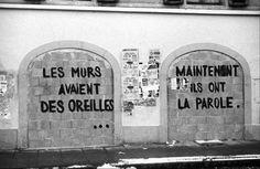 Les murs ont la parole.