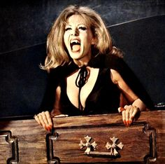 "Horror Queen Ingrid Pitt Bites Into Shocktober Day ""Vampires Lovers!"" ""Countess Dracula"" And More Horrific Films! Horror Queen Ingrid Pitt Bites Into Shocktober Day ""Vampires Lovers!"" ""Countess Dracula"" And More Horrific Films! Hammer Horror Films, Hammer Films, Horror Movies, Horror Fiction, Comedy Movies, Movie Film, Scary Movies, Sexy Horror, Gothic Horror"