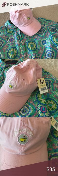 Masters women's pink hat NWT Masters light pink vintage women's hat NWT. Never worn. We go every year and my closet is filling up. Golf lovers know how great these hats are. Feel free to make an offer. Masters Accessories Hats