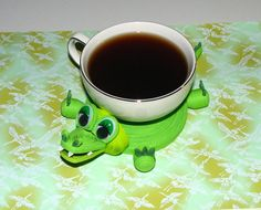 Coasters for drinks Green crocodile Stand for the cup Cup Stands Cup pad Kitchen's decoration Stand cup Cup coaster Quilling art Quilling Flowers, Paper Quilling, Paper Flowers, Quilling Ideas, Modular Origami, 3d Origami, Paper Art, Paper Crafts, Tea Coaster