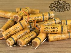 Vintage Replica GREY TIGER MFD Capacitor for Gibson Les Paul SG ES 335 and other electric Guitar, simply the best Capacitors for restauration and upgrade your Guitar Sound Fender Telecaster, Guitar Fender, Fendi, Custom Guitars, Gibson Les Paul, Vintage Guitars, Wax Paper, Grey, Gray