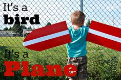Make these super fun airplane wings for your little ones! This is a super easy project made with just a handful of supplies. Click on the image to find out how!
