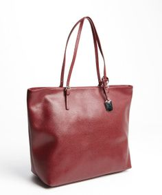 Furla burgundy crosshatched leather 'New Shopper' tote