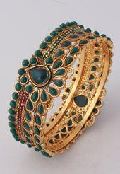 Green Austrian Diamond Studded Bangle