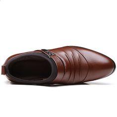 2e27fa95 Luksusowe Brytyjskie Biznesowe Męskie Sukienka Buty Wiosna Jesień Point Toe  Slip-On PU Skórzane Buty
