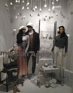 White Holidays Display in one of our stores!  #holidays #merchandizing #AmericanApparel
