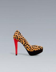 #fallfaves Zara Leopard Platform Court Shoe. $100.
