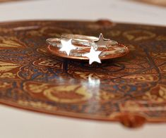 Sterling Silver Star Rings Trio tiny star by SilverBirdJewellery